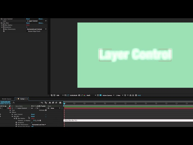 After Effects Layer Control