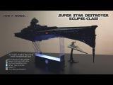 Super Star Destroyer Eclipse-class - Star Wars model - 4K UHD