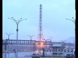 Демонтаж методом направленного взрыва 110-метровой вытяжной башни с трубой