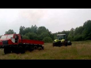 Tatra 8x8 vs. claas