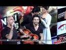 Дипика и Шахрукх на продвижении фильма Ченнайский экспресс исполнили песню Meherbani