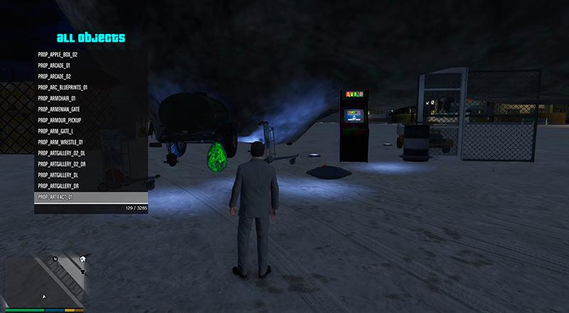 Скрипт для спавна объектов, машин, людей и животных в GTA 5