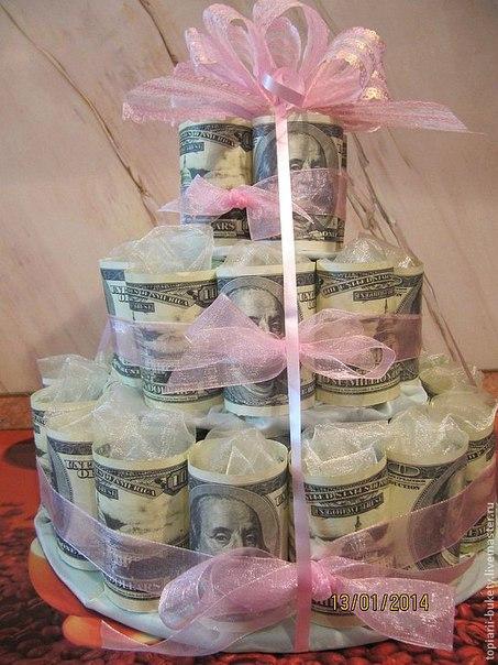 Торты из денежных купюр своими руками
