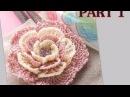 Вязание крючком для начинающих Как связать Цветок (1 часть)