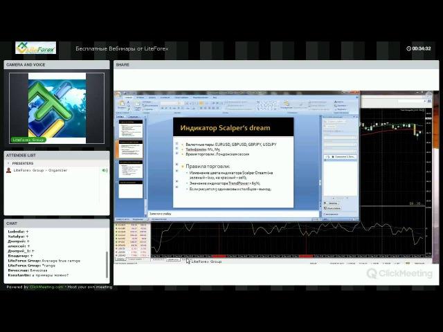Вебинар Форекс от Liteforex Скальпинг торговля на краткосрочных таймфреймах