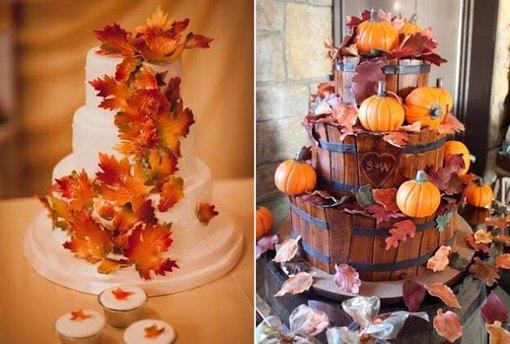 торты фото с осенью