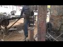 Испытание самодельного рессорно молота.ПРОСТО БОМБА /power hammer