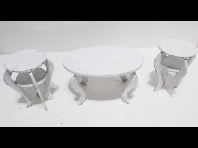 How to Make Doll Shabby Chic Coffee Table Chairs