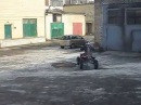 самодельный квадроцикл из мотоцикла Тула . А self-made quad from BELARUS