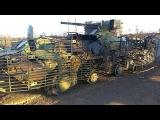 Донбасс. Подбитый из танка БТР Украинских военных. Май 2015