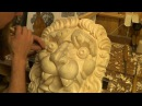Carving a Lion Head from the Royal warship Vasa