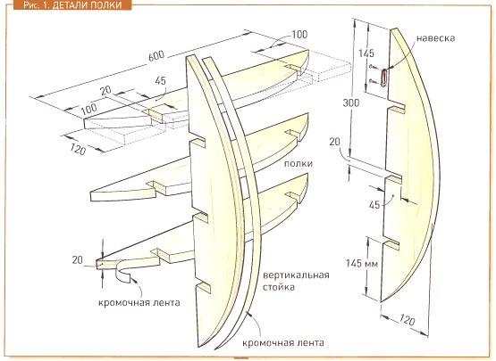 Схема полка для обуви