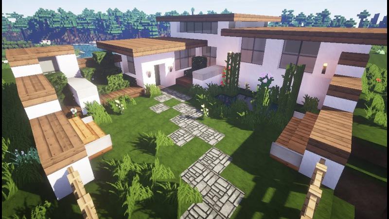 Строим дом в майнкрафт