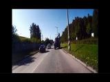 Обгон на пешеходном переходе - Снежинск 29 июля 2015
