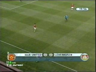 ЛЧ 2001-02. 1-2 финала. Первый матч. Манчестер Юнайтед - Байер 1 часть