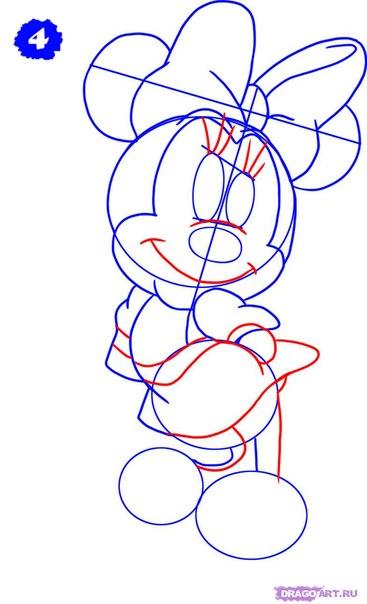 Как нарисовать микки мауса пошагово