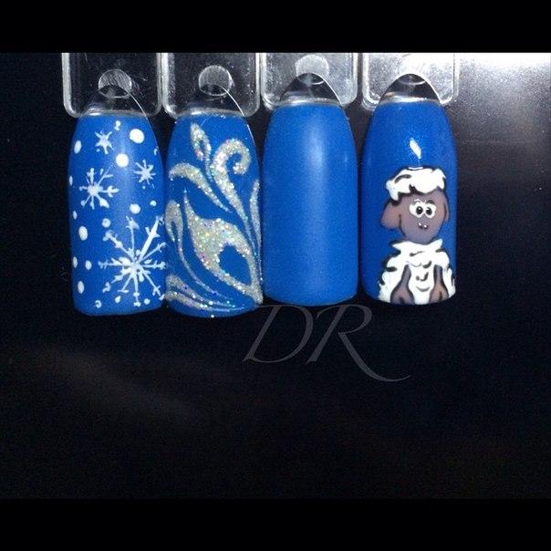 Синяяовца 2015 маникюр маникюрмосква