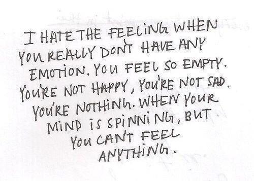 не чувствуешь: