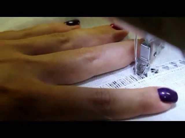 мастер-класс Вышивка мережка на швейной машине