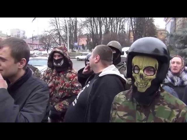 28 февраля 2014. Васильков. Фашистам нет места в Василькове. Как встречали Мосейчука.