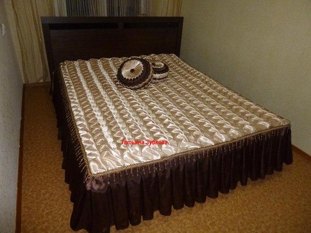 Покрывала буфы на кровать