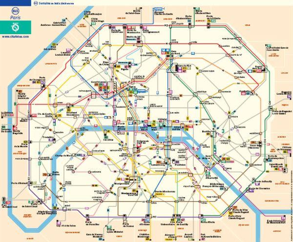 Схема движения парижских