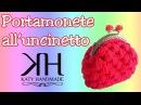PORTAMONETE ALL'UNCINETTO | Crochet coin purse | PUNTO CANESTRO || Katy Handmade