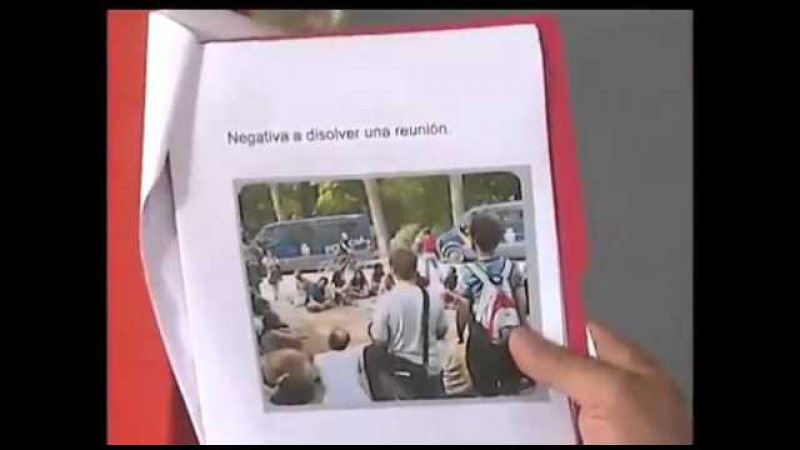 (Vídeo) Con hologramas protestan en España contra Ley Mordaza