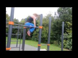 Melanie Driessen (Netherlands) First Female World Championship in Street Workout 2014 Amsterdam
