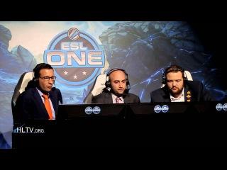 ESL One Cologne 2015: Casters during Virtus.pro vs. Ninjas in Pyjamas (map 1)