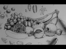 Pen Ink Drawing Tutorials | How to draw a fruit and vegetable still life