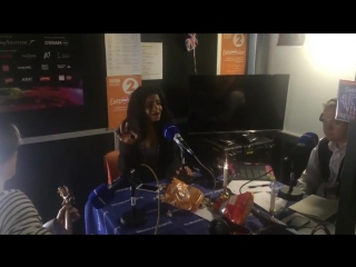 Aminata visits BBC Radio 2 studio booth at the Eurovision Song Contest and sings Love Injected