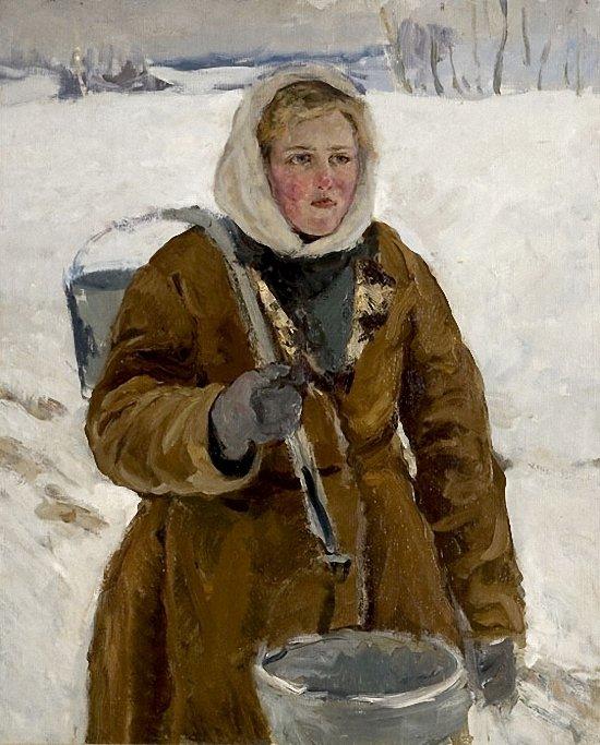 Стожаров Владимир Федорович (1926 – 1973) - Девушка с коромыслом