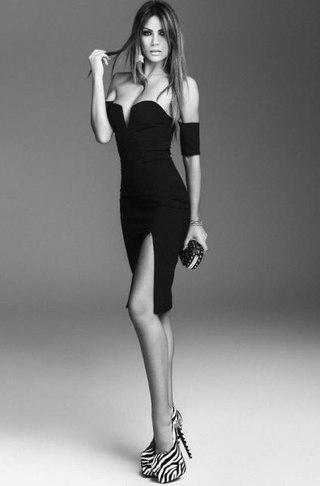 Фотосессия в коротком черном платье