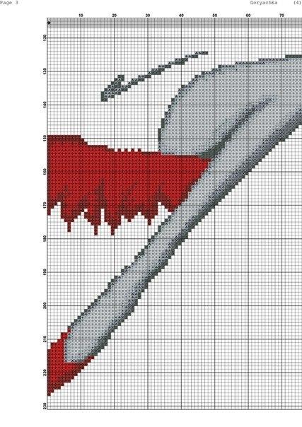 Схема вышивки женщина в красной шляпе 42