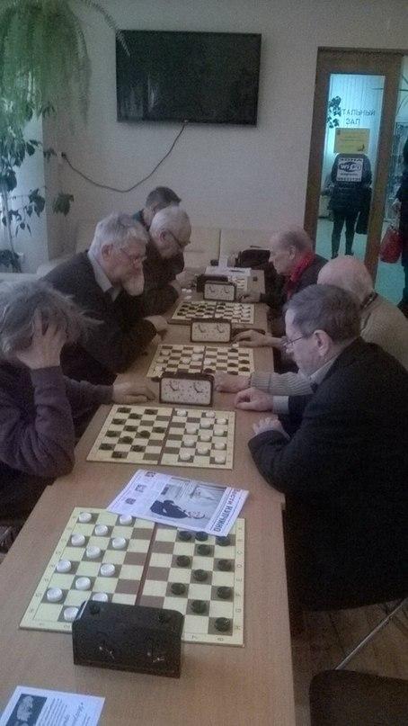 Секция шашек. Турнир выходного дня.