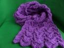 Вязание спицами. Ажурный шарф спицами. Knitting (Hobby).
