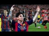 Ну просто Великолепный гол - Лео Месси ( Барселона Атлетик Бильбао 3 - 1 ) 31/05/2015