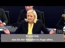 Marine Le Pen attackiert Angela Merkel (EU Parlament, 07 Okt. 2015)