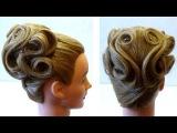 Свадебные прически на средние волосы - видео урок | Uroki-online.com