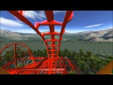 3D Rollercoaster Falcon (3D Glasses needed) (No Limits Simulator)