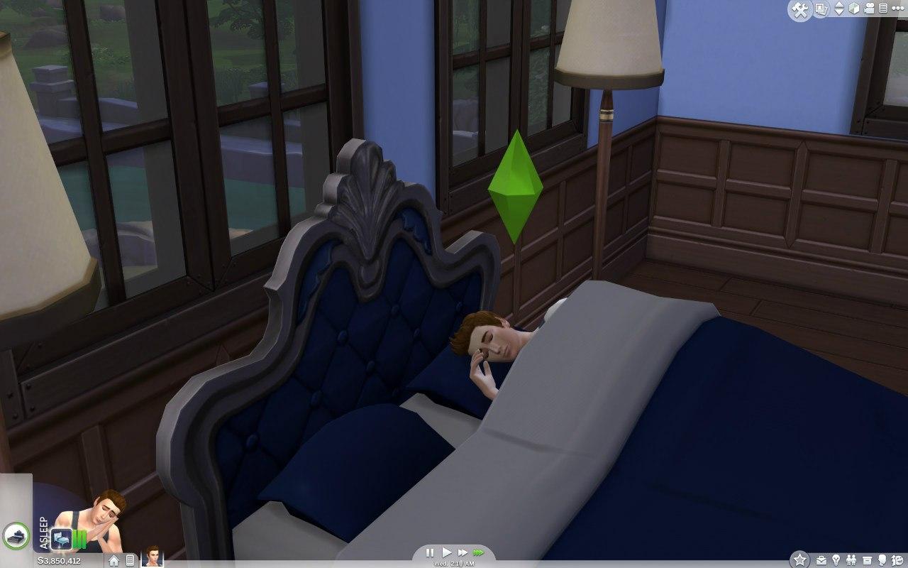 Мод «заставляющий» симов спать всю ночь