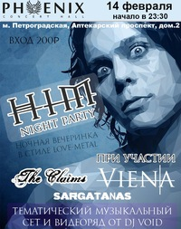 11.04 HIM NIGHT PARTY (start 23:30) в С.-Пб!