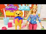 Barbie Potty Trainin' Taffy Pet Dog Play Doh Barbie Dolls Toys Review by Disney Cars Toy Club