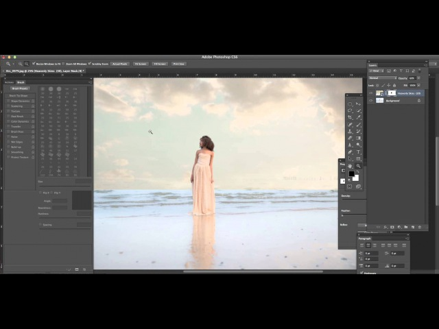 Adding a sky in photoshop cs6\\nkj