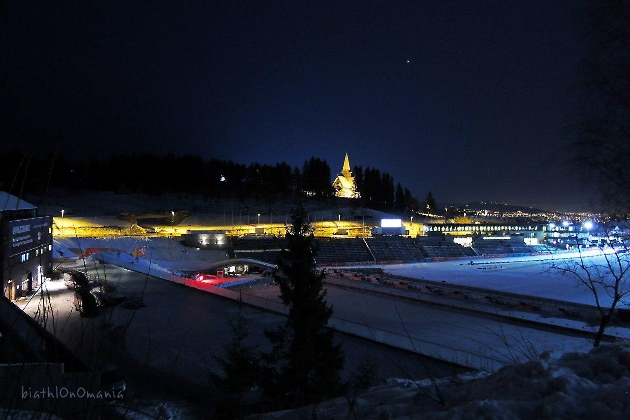 вид на вечерний стадион