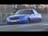 CAR STYLE . оклейка авто. LADA Priora синий матовый хром