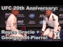 UFC 167: Royce Gracie Georges St-Pierre Train Jiu Jitsu (HD / Complete / Unedited)