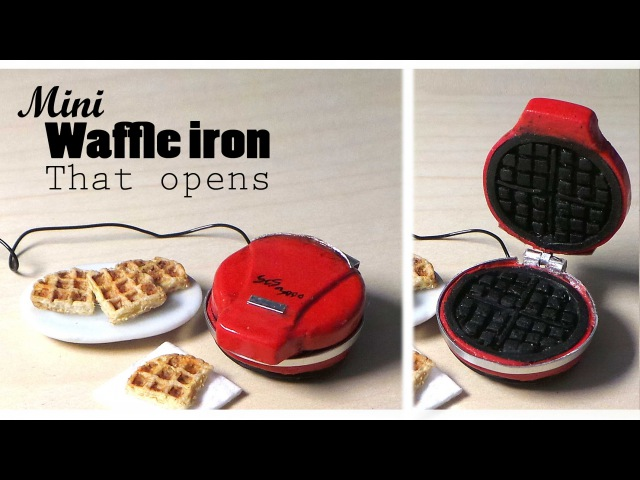 Miniature Waffle Iron (That Opens) Waffles - Polymer Clay Tutorial