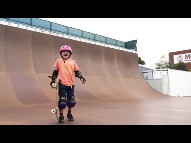 9 Year Old Girl Lands 540!